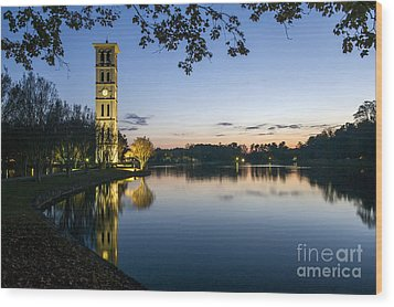 Furman University Bell Tower At Sunset  Greenville Sc Wood Print