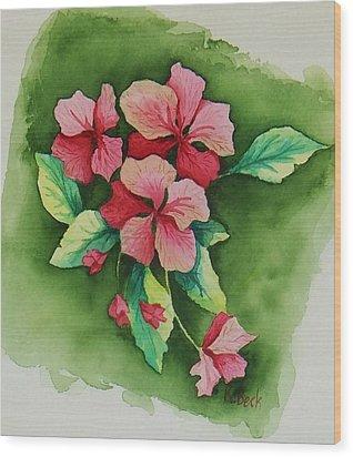 Geraniums Wood Print