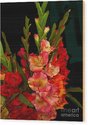 Wood Print featuring the photograph Gladiolus by Merton Allen