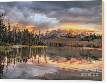 Golden Sunrise Wood Print by Robert Bales