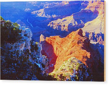 Grand Canyon From Hermit's Rest Road Wood Print