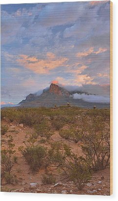 Guadalupe Mountains Sunrise Wood Print by Stephen  Vecchiotti