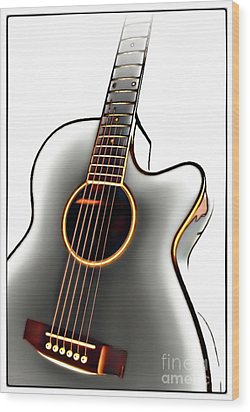 Guitar Wood Print by Walt Foegelle