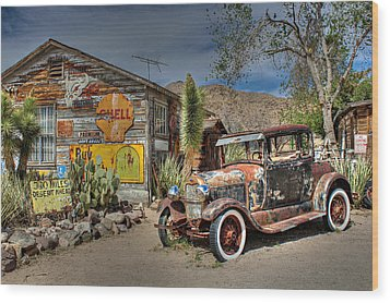 Hackberry General Store On Route 66 Wood Print by Lynn Jordan