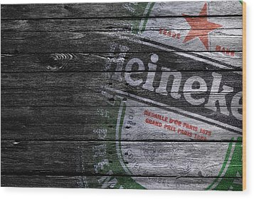 Heineken Wood Print by Joe Hamilton
