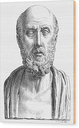 Hippocrates (c460-c377 B.c.) Wood Print by Granger