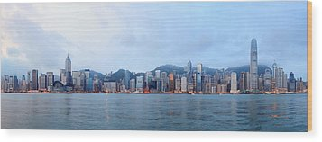 Hong Kong Morning Wood Print