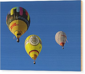 3 Hot Air Balloon Wood Print by John Swartz
