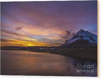 Iceland Wood Print