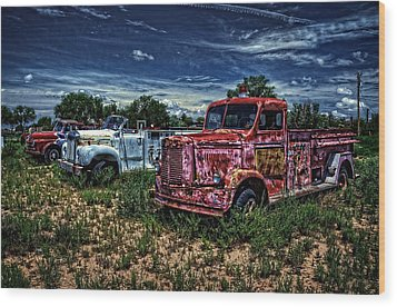 Wood Print featuring the photograph 3 In A Row by Ken Smith