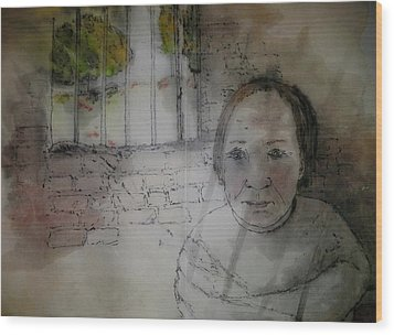 Inside Mental Illness Album Wood Print by Debbi Saccomanno Chan