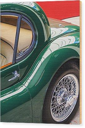 Jaguar Xk 140 Wood Print by SM Shahrokni