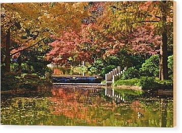 Wood Print featuring the photograph Japanese Gardens by Ricardo J Ruiz de Porras