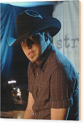 Jason Aldean Wood Print by Don Olea