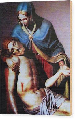 Jesus And Mary Wood Print by W  Scott Fenton