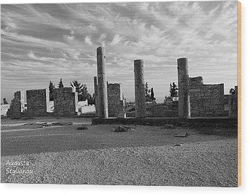 Kourion-temple Of Apollo Wood Print by Augusta Stylianou