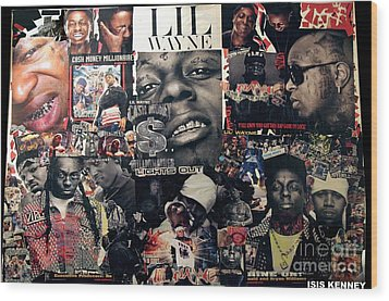 Lil Wayne The Last Hot Boy Wood Print by Isis Kenney