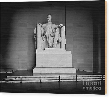 Lincoln Memorial Wood Print by Lane Erickson