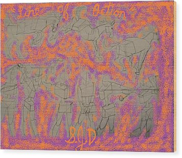 Line Of Action Wood Print by Joe Dillon