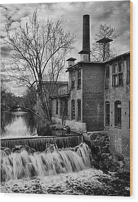 Wood Print featuring the photograph Little River Dam by Betty Denise