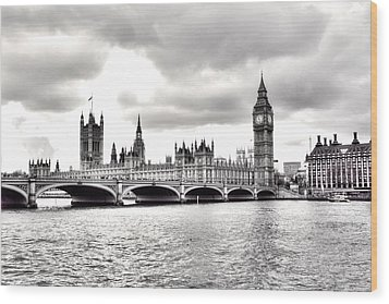 London Town Wood Print by Fizzy Image