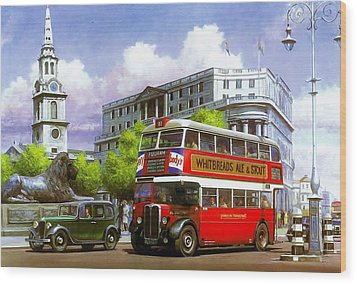London Transport Stl Wood Print by Mike  Jeffries