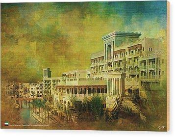 Madinat Jumeirah Wood Print by Catf
