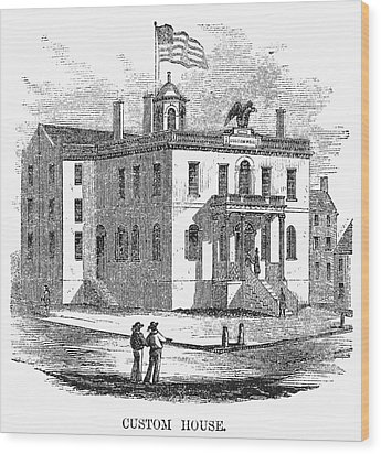 Wood Print featuring the painting Massachusetts Salem, 1851 by Granger