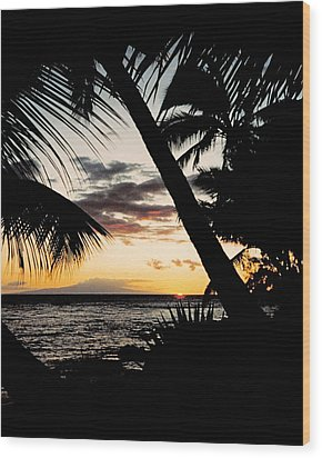 Maui Sunset Wood Print