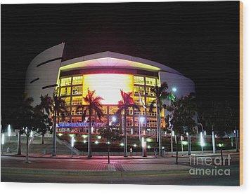 Miami Heat  Wood Print by Andres LaBrada