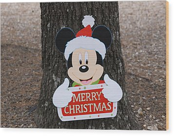 Mickey Mouse Wood Print by Dick Willis
