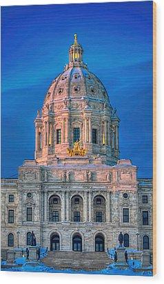Minnesota State Capitol St Paul Wood Print