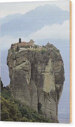 Monastery Of The Holy Trinity Hagia Wood Print by Everett