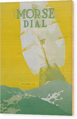 Morse Dry Dock Dial Wood Print by Edward Hopper