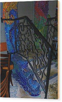 Mosaic Doorway Wood Print by Charles Lucas