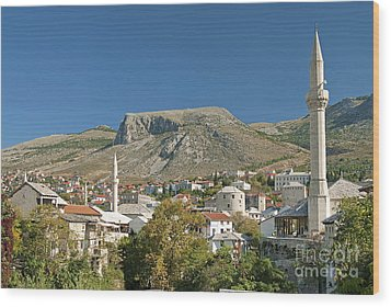 Mostar In Bosnia Herzegovina Wood Print
