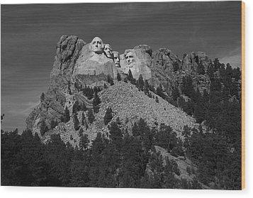 Mount Rushmore Wood Print by Frank Romeo