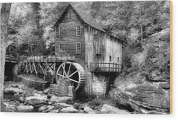 Mountain Mill Wood Print