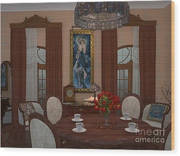 My Art In The Interior Decoration - Elena Yakubovich Wood Print by Elena Yakubovich