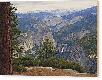 Nevada Falls Wood Print by Lynn Bawden