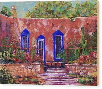 New Mexico Garden Wood Print by Bruce Schrader