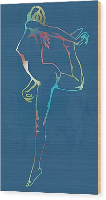 Nude Dancing Pop Stylised Art Poster Wood Print by Kim Wang