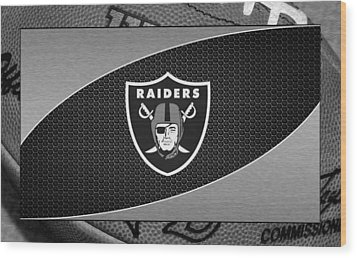 Oakland Raiders Wood Print by Joe Hamilton