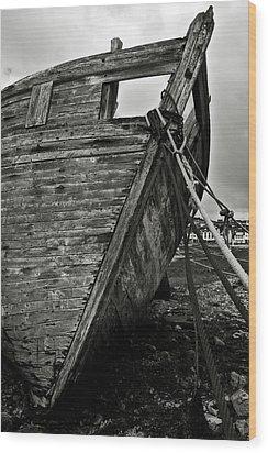 Old Abandoned Ship Wood Print