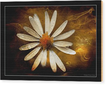Wood Print featuring the photograph On Fire by Michaela Preston