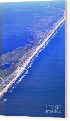 Outer Banks Aerial Wood Print by Thomas R Fletcher