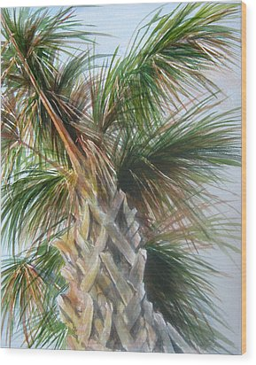 Wood Print featuring the painting Palmetto 2011 by Gloria Turner