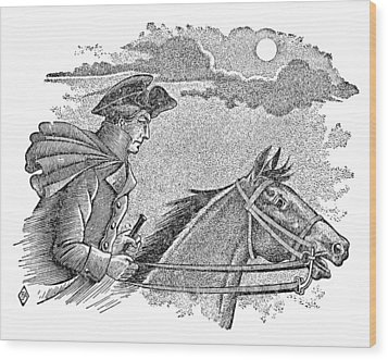 Paul Reveres Ride Wood Print by Granger
