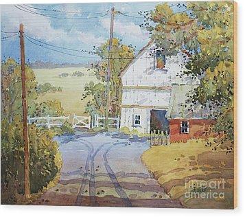 Peaceful In Pennsylvania Wood Print by Joyce Hicks
