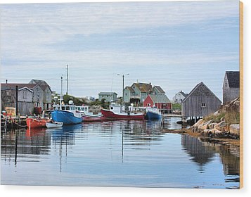 Peggys Cove Wood Print